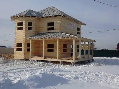 Отделка сайдингом фасадов дома из бруса, Воскресенский район