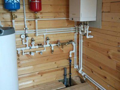 Монтаж системы отопления в брусовом доме