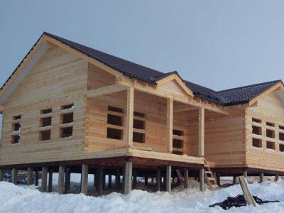 Дом на свайном железобетонном фундаменте