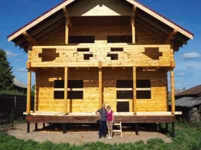 дом из профилированного бруса 145х195мм в Рязанской области